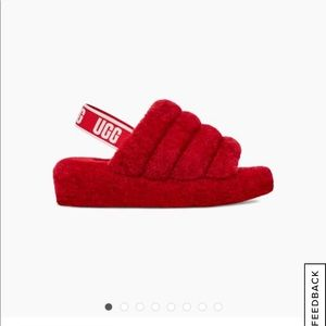 Authentic ugg fluff yeah slippers ❤️🎈